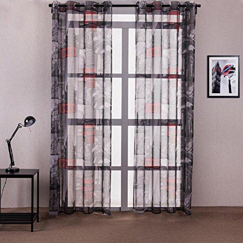 YYH Best Home Fashion City Stampa oscuranti tende oscuranti (Set di 2 pannelli) per la camera da letto tenda a pannello , 140 * 260 cm