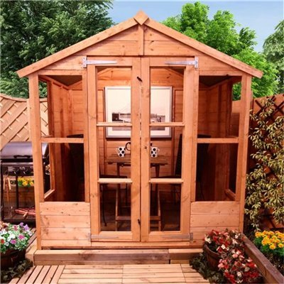 6FT x 4FT ANTIGUA TONGUE & GROOVE SUMMERHOUSE