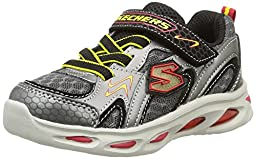 Skechers Infant/Toddler Boys\' S Lights Ipox Rayz,Silver/Red,US 6 M