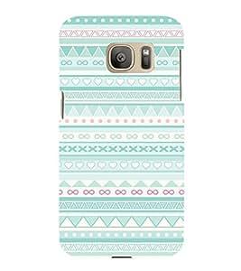 Multi Symbol Pattern 3D Hard Polycarbonate Designer Back Case Cover for Samsung Galaxy S7 Edge :: Samsung Galaxy S7 Edge Duos G935F