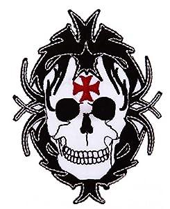 Ecusson / Patch Tete De Mort Avec Croix De Malte 442304-948 Airsoft