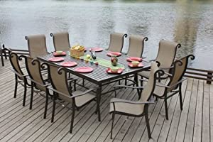 Bellini Home and Gardens UNA25411B1090 Sommertone Dining 11 Pc Set