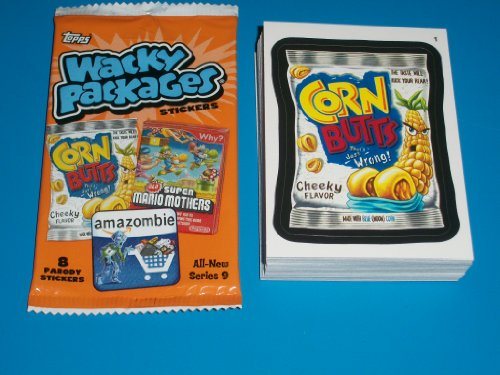 Wacky Packages All New Series 9 Complete SET 55/55 Stickers w/ Wrapper!! (Wacky Packages Set compare prices)