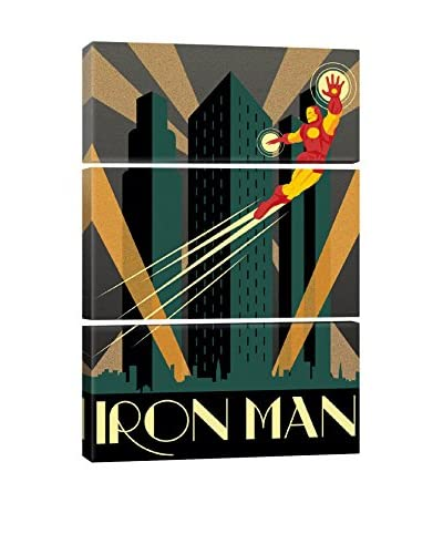 Marvel Comics Iron Man Minimalistic Poster Gallery Wrapped Triptych Canvas Print