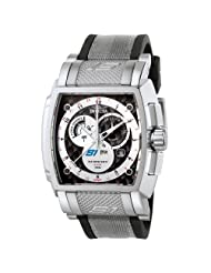 Invicta Men's 6215 S1 Collection GMT Stainless Steel Black Rubber and Gray Fabric Watch