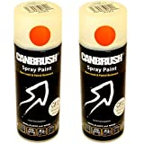 2 x CANBRUSH Spray Paint - For Metal Plastic & Wood 400ML - American Walnut