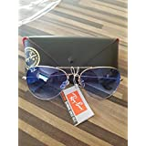 Ray Ban Aviator 3025 Silver Frame w/ Blue Gradient Rb 3025 003/3f 62mm Large (Color: Silver, Tamaño: 62 mm)