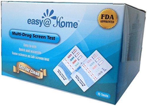 25 Pack #EDOAP-754 Easy@Home 5 Panel Instant Urine Drug Test - Marijuana (THC),Cocaine (COC),Opiate (OPI 2000),Benzodiazepines (BZO), Amphetamine (AMP) - 25 Tests