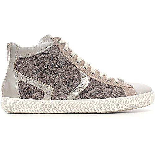 Nero Giardini Sneaker Donna in Pelle e Tessuto Macramè, Primavera/Estate P615252D-505 (39, Savana)