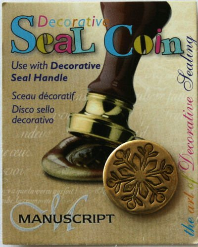 Manuscript Pen 727SNF Decorative Seal Coin, 0.75-Inch, Snowflake - 1