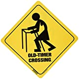 Laid Back Old-Timer Crossing Sign, 11 by 11-Inch