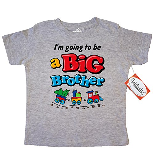 Inktastic Little Boys' Choo Choo Future Big Brother Toddler T-Shirt 3T Heather Grey (Future Big Brother compare prices)
