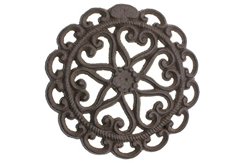 Purchase Cast Iron Trivet | Round with Vintage | Pattern Decorative Cast Iron Trivet For Kitchen Or ...