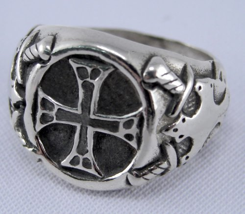 Unusual Sterling Silver Medieval Cross Ring...Made in America