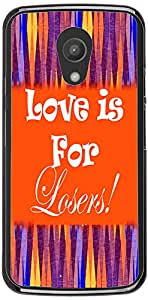 PrintVisa Quotes Love Colorful Case Cover for Motorola Moto G2 (2nd Gen.)