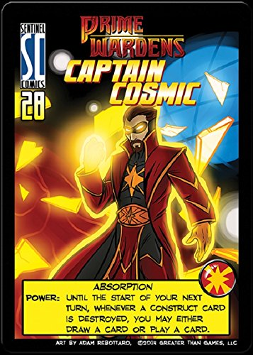 Sentinels of the Multiverse : PRIME WARDEN HERO Expansion Promo - Prime Warden CAPTAIN COSMIC - 1