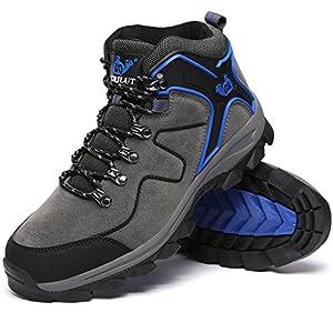 LoZoDo 男女兼用 アウトドア シューズ 大きいサイズ トレッキング シューズ ハイカット 防滑 登山靴