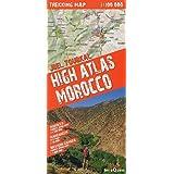 Alto Atlas de Marruecos, toubkal. Incluye mapas de Sahara occidental y Marrakech. Escala: 1:100.000. Mapa excursionista...