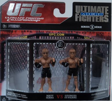 UFC Jakks Pacific Series 3 Ultimate Fighters Micro Figure 2Pack Matt Serra vs. Georges StPierre Black Shorts
