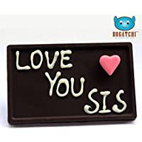 CHOCOLATE GIFT FOR SISTER, DARK CHOCOLATES, CHOCOLATE BAR, RAKHI GIFT PACK, PERSONALIZED CHOCOLATES, LOVE U SIS...