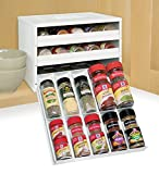 YouCopia Chefs Edition SpiceStack 30-Bottle Spice Organizer, White