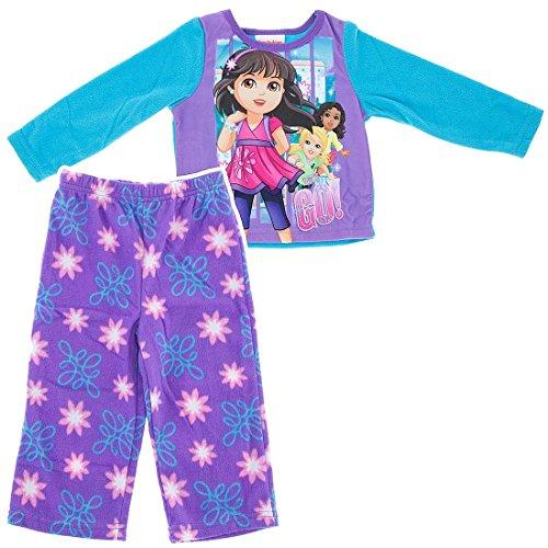 Nickelodeon Little Girls' Dora and Friend's Pajama Set (3T)