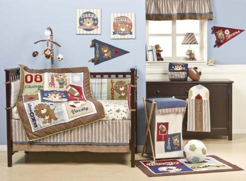 Kids Line Four Piece Crib Bedding Set Animal All Stars
