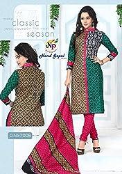 Balaji Fashion Women's cottan print suit D.NO7006_Multi-Coloured