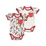 Cat & Dogma - Certified Organic Infant/Baby Clothing Bunny/Coral Bodysuit Pack (12-18 Months)