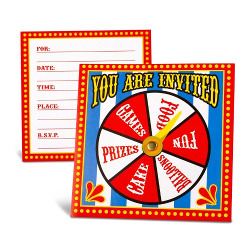 Carnival Spinner Invitations Party Accessory