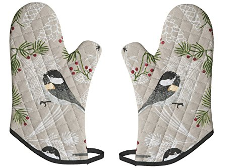 Now Designs Basic Oven Mitt, Chickadee, Set of 2