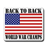Back to Back World War Champs mouse pad