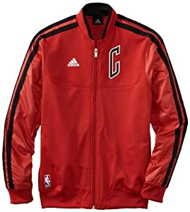 NBA adidas Chicago Bulls On-Court Weekday Full Zip Track Jacket - Red by adidas