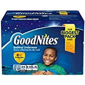 GoodNites Bedtime Underwear - Size 8-14 Boys, 44 ct. おねしょパンツ L-XLサイズ 対応 27キロ~57キロ 44枚 男の子用 《並行輸入》
