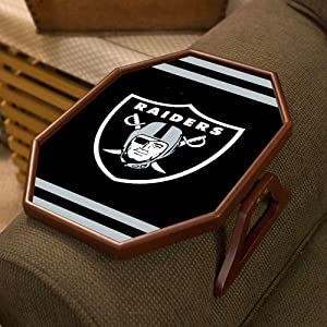 Oakland Raiders Armchair Quarterback Clip On Tray Table by Team Sports America