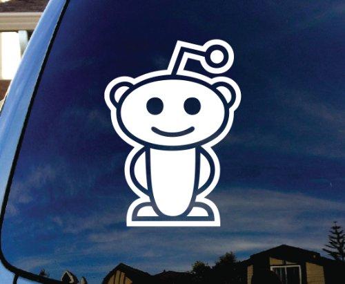 "Reddit-Alien Car Truck Laptop Sticker Decal 5"" Tall"
