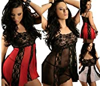 Plus / One Size Sexy Lingerie Lace & Mesh Babydoll 10 14 16 18 20 22 24 S - 6XL