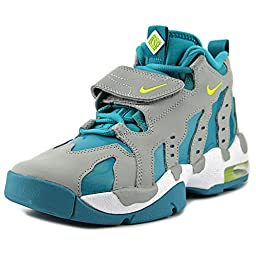 Nike Kid\'s Air DT Max 96 GS, WOLF GREY/VENOM GREEN-TURBO GREEN-WHITE, Youth Size 6.5