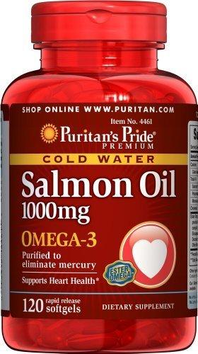 Puritan'S Pride 2 Pack Of Omega-3 Salmon Oil 1000 Mg 120-Softgels