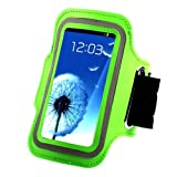 Mami Case-dressing Touch Screen Pouch Armbands for Samsung I9100 Galaxy SII S2 & Samsung I9000 I9003 Galaxy S , Sport GYM Running Jogging Armband Shockproof Cycling Climbing Strap Case Cover (Green)