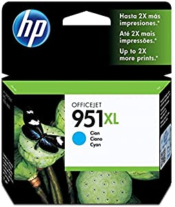 HP 951XL - Cyan Ink Cartridge (CN046AE)