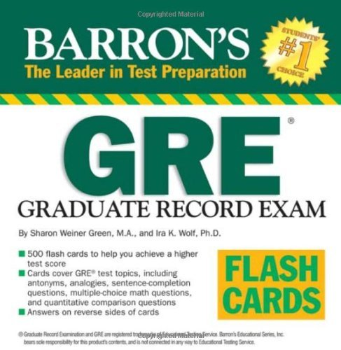 Sharon Weiner Green M.A. - Barron's GRE Flash Cards