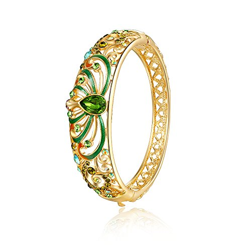 city-ounar-moda-gioielli-oro-rosa-verde-cristallo-austriaco-donne-bangle-novita-bracciale-swarovski-