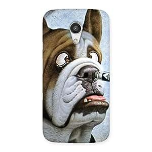 Big Face Dog Back Case Cover for Moto G 2nd Gen