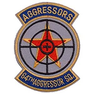 """U.S. Air Force 64th Aggressor Squadron Patch 3"""""""