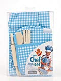 Eddingtons 7pc Children Kids Chef, Cooking, Baking Set In Blue Or Pink (Blue)