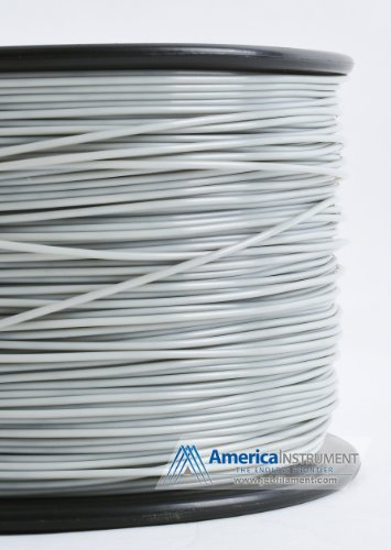 Jet - ABS (3mm, Grey color, 1.0kg =2.204lbs) Filament on Spool for 3D Printer MakerBot RepRap MakerGear Ultimaker & Up!