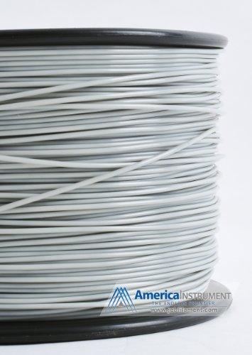 Jet - ABS (3mm, Grey color, 1.0kg =2.204lbs) Filament on Spool for 3D Printer MakerBot RepRap MakerGear Ultimaker & Up!