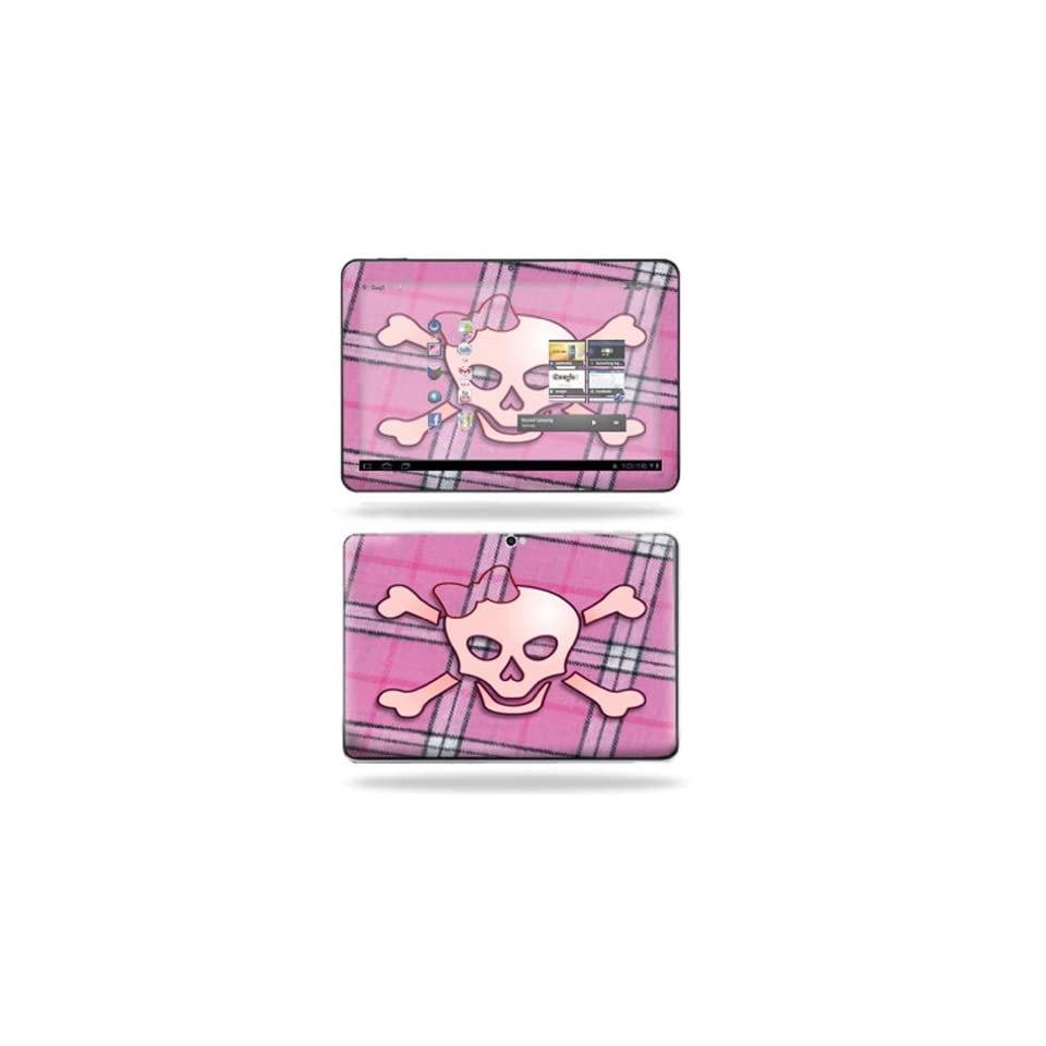Protective Vinyl Skin Decal Cover for Samsung Galaxy Tab 8.9 Tablet sticker skins Pink Bow Skull
