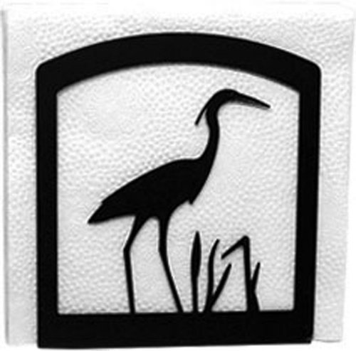 Iron Heron Table Napkin Holder - Black Metal